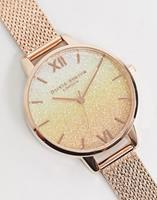 oliviaburton Olivia Burton - Horloge 'under the sea' met mesh-bandje in rosé goud