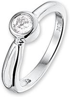 Unknown The Kids Jewelry Collection Ring Zirkonia - Zilver - Maat 16.00