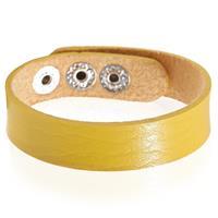 lgtjwls Leren armband LGT Jewels Verstelbaar Geel
