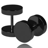 lgtjwls LGT Jewels Stud oorbellen zwart 4mm