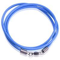 lgtjwls LGT Jewels waxkoord ketting Blauw- 2.5mm-55cm