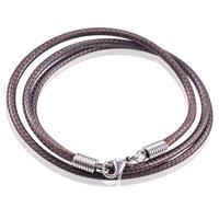 lgtjwls LGT Jewels waxkoord ketting Donkerbruin - 2.5mm-55cm