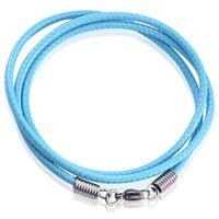lgtjwls LGT Jewels waxkoord ketting Lichtblauw - 2.5mm-55cm