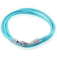 lgtjwls LGT Jewels waxkoord ketting Turquoise - 2.5mm-55cm