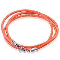 lgtjwls LGT Jewels waxkoord ketting Oranje- 2.5mm-55cm