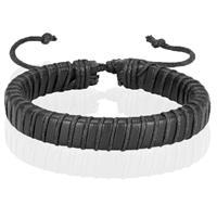 lgtjwls Zwarte leren armband LGT Jewels Verstelbaar Touw