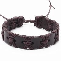 lgtjwls Verstelbare leren armband LGT Jewels Touw Bruin