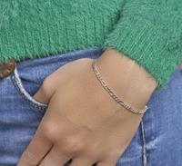 The Jewelry Collection Armband Figaro 2,7 mm - Zilver