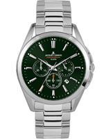 Jacques Lemans Chronograaf Classic 1-1945F, groen, voor Heren, 4040662134367, EAN: 1-1945F