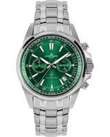 Jacques Lemans Chronograaf Sport 1-2117L, groen, voor Heren, 4040662164203, EAN: 1-2117L