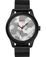 HUGO Heren horloges Move Casual 1530052, zwart, voor Heren, 7613272296403, EAN: 1530052