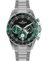 Jacques Lemans Chronografen 1-2127G, groen, voor Heren, 4040662164739, EAN: 1-2127G