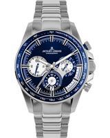 Jacques Lemans Chronografen 1-2127F, blauw, voor Heren, 4040662164722, EAN: 1-2127F