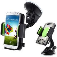Universele Smartphone / Tablet Autohouder - Groen / Zwart