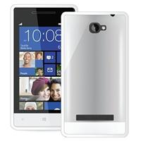 HTC Windows Phone 8S Puro Clear Cover - Wit