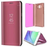 Huawei Mate 10 Luxury Mirror View Flip Cover - Rose Gold