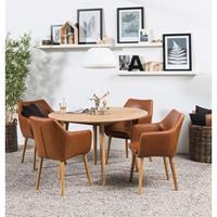 Leen Bakker Eethoek Ulfborg Uppsala (tafel met 4 stoelen) - bruin