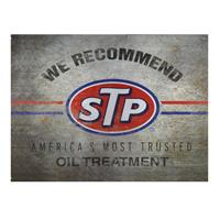 Fiftiesstore Metalen Poster - We Recommend STP, America's Most Trusted Oil Treatment