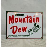 Fiftiesstore Drink Mountain Dew Emaille Bord