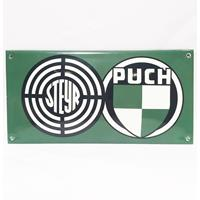 Fiftiesstore Puch Steyr Emaille Bord