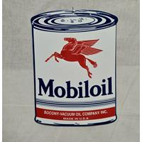 Fiftiesstore Mobiloil Emaille Bord