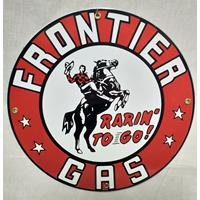 Fiftiesstore Frontier Gas Emaille Bord
