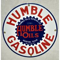 Fiftiesstore Humble Gasoline Emaille Bord