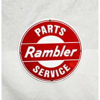 Fiftiesstore Rambler Service Parts Emaille Bord