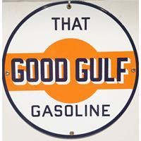"""Fiftiesstore That Good Gulf Emaille Bord 12"""" / 30 cm"""