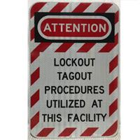 Fiftiesstore Attention Lockout Tagout Procedures Utilized At This Facility - Origineel
