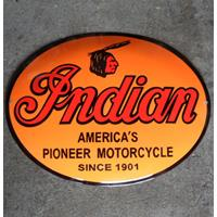Fiftiesstore Indian America's Pioneer Motorcycle Emaille Bord