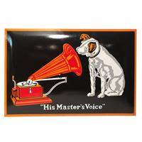 Fiftiesstore His Master's Voice Large Emaille Bord V.2