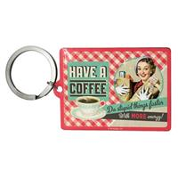 Fiftiesstore Say it 50's: Have a Coffee Sleutelhanger