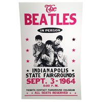 Fiftiesstore The Beatles In Person Indiana State Fairgrounds Replica Poster