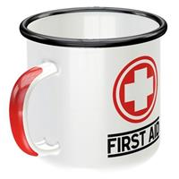 Fiftiesstore Emaille Mok First Aid