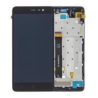 Xiaomi Redmi Note 3 Voorzijde Cover & LCD Display - Zwart