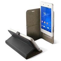Universele Mobiel Case - Boek Smartphone 4,5Slide Zwart