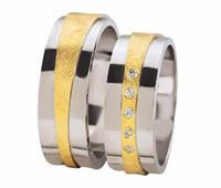 Christian Diamond coated trouwringen met diamanten geel goud