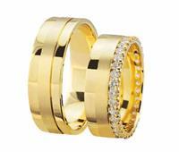 Christian Gouden trouwringen met matglans geel goud