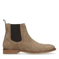 Sacha Taupe suède chelsea boots - bruin