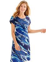Your look for less! Zomerjurk, marine/turquoise bedrukt