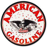 fiftiesstore American Gasoline Rond Emaille Bord 30 cm