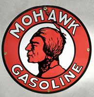 fiftiesstore Mohawk Gasoline Emaille Bord