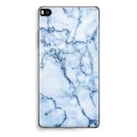 Huawei Ascend P8 Transparant Hoesje (Soft) - Blauw marmer