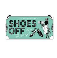 fiftiesstore Hangend Bord Shoes Off