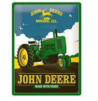 fiftiesstore Tinnen Bord 30 x 40 John Deere - Made With Pride