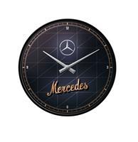 fiftiesstore Wandklok Mercedes-Benz - Silver & Gold