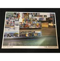 fiftiesstore Ken Keeley The Newstand Art Poster - 86,5 x 61 cm