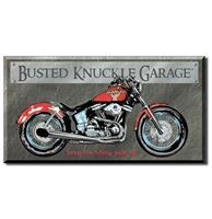 fiftiesstore Busted Knuckle Garage Bike - Keep The Shiny Side Up Metalen Poster