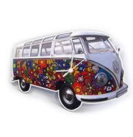 fiftiesstore Klok Volkswagen T1 Bus Classic Flower